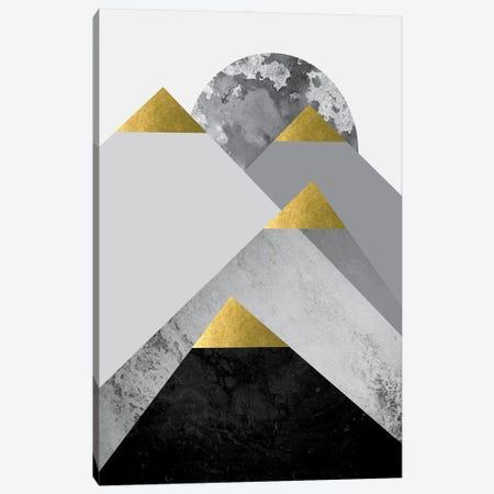 Black Grey Gold Mountains II Canvas Print #URE283} by Urban Epiphany Canvas Art Print