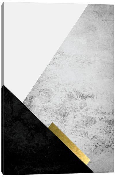 Black Grey Gold Mountains III Canvas Art Print