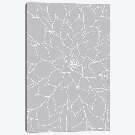 Gray Succulents III Canvas Print #URE303} by Urban Epiphany Canvas Art