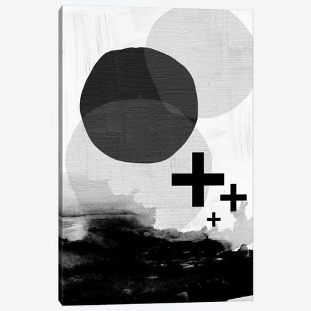 Black White Scandi Abstract Canvas Print #URE31} by Urban Epiphany Art Print