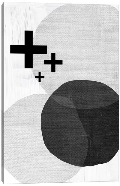Black White Scandi Modern Canvas Art Print