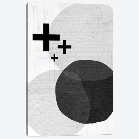 Black White Scandi Modern Canvas Print #URE32} by Urban Epiphany Canvas Art Print