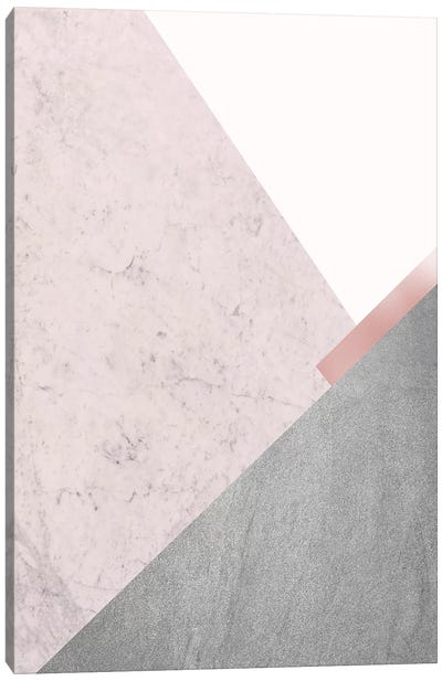 Blush Pink Mountains I Canvas Art Print