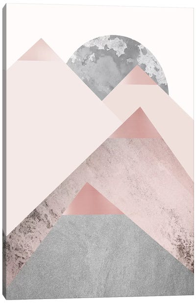 Blush Pink Mountains II Canvas Art Print