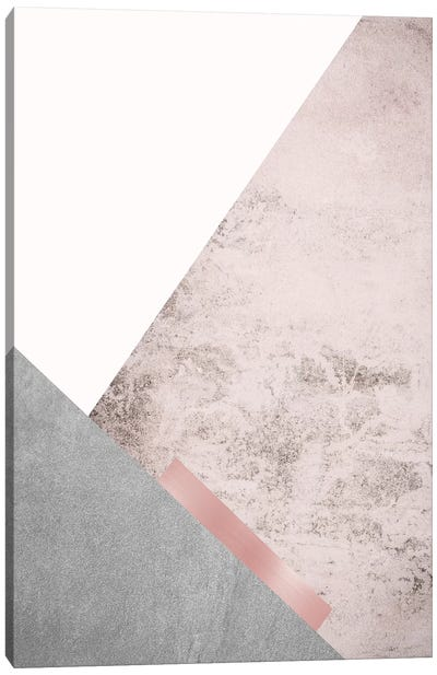 Blush Pink Mountains III Canvas Art Print
