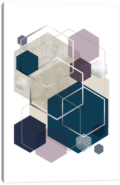 Abstract Geo SoftLuxe Canvas Art Print