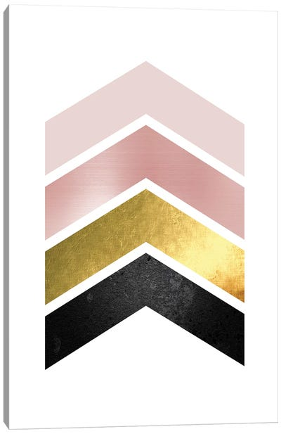 Blush Pink Gold I Canvas Art Print