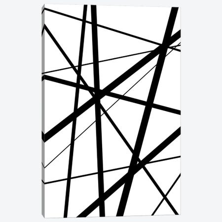 Black And White Geo Lines I Canvas Print #URE49} by Urban Epiphany Canvas Art