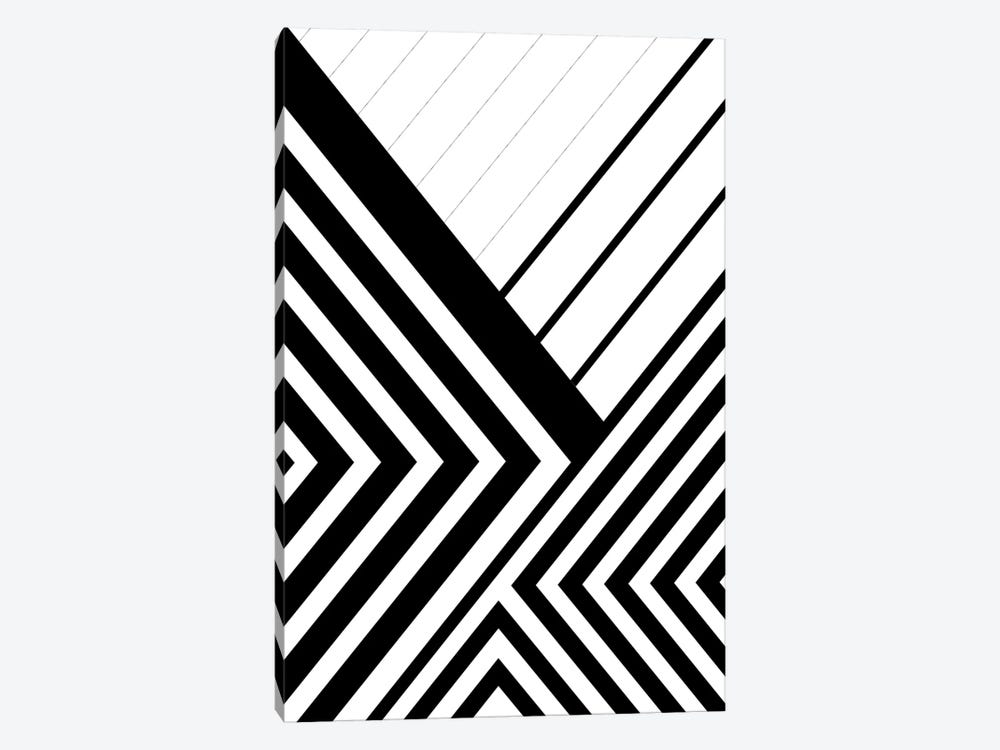 Black And White Geo Lines III by Urban Epiphany 1-piece Art Print