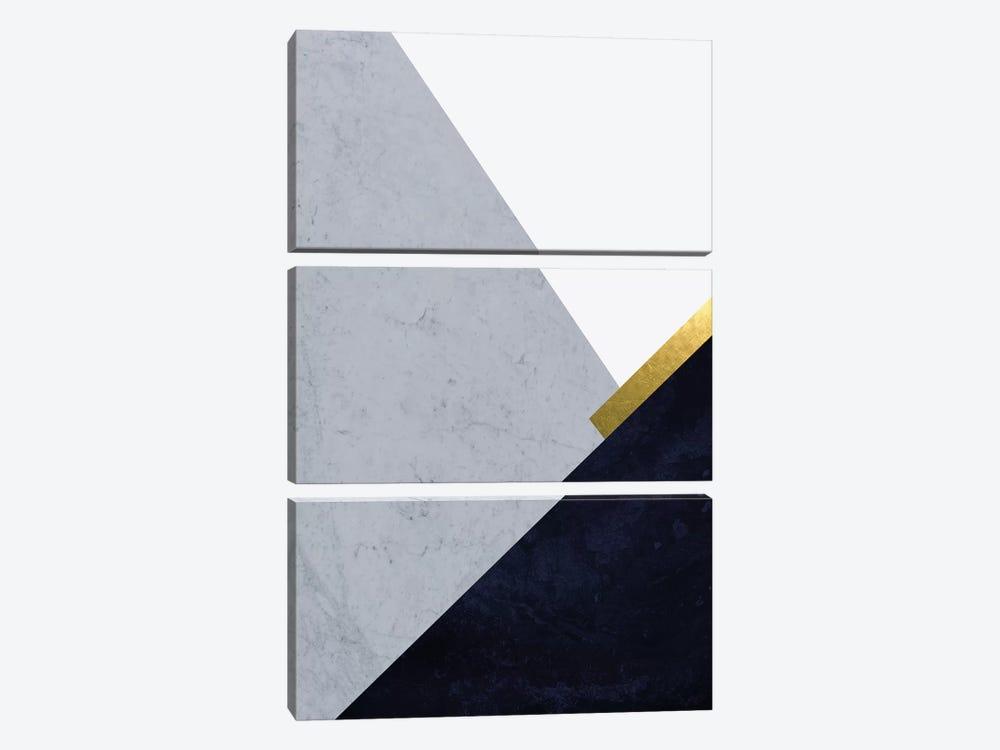 Dark Blue Mountains I by Urban Epiphany 3-piece Canvas Print