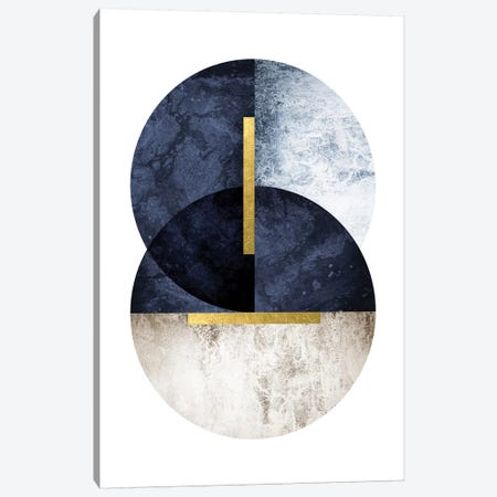 Dark Navy Canvas Print #URE58} by Urban Epiphany Canvas Art Print