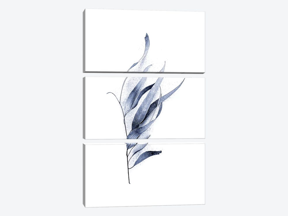 Gum Leaves Navy I by Urban Epiphany 3-piece Canvas Art