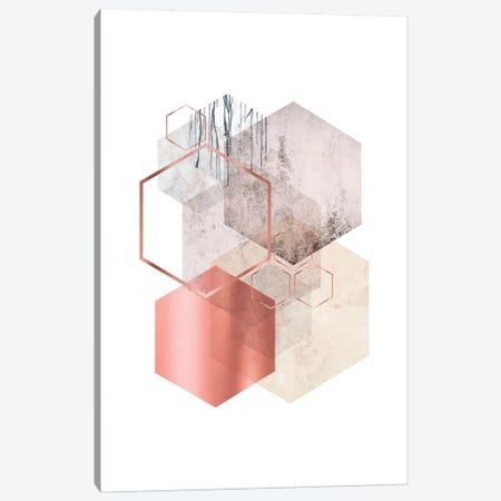 Hexagonal Geo I Canvas Print #URE98} by Urban Epiphany Canvas Print
