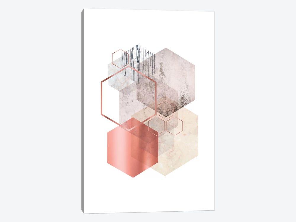Hexagonal Geo I by Urban Epiphany 1-piece Canvas Art