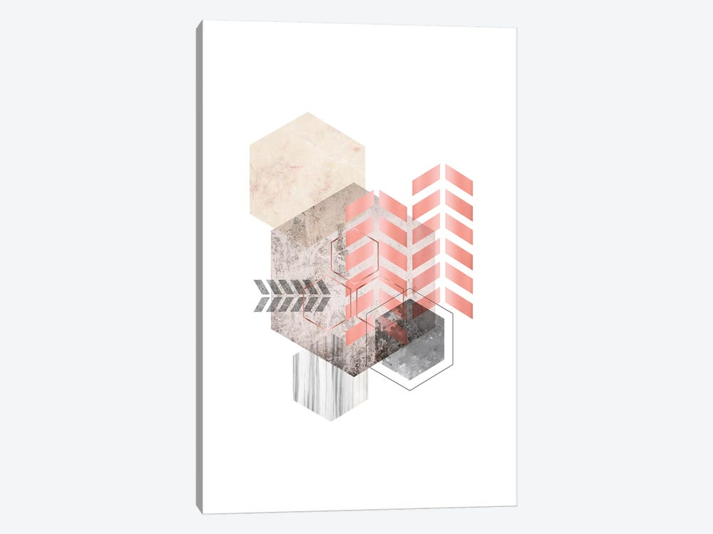 Hexagonal Geo II by Urban Epiphany 1-piece Canvas Art Print
