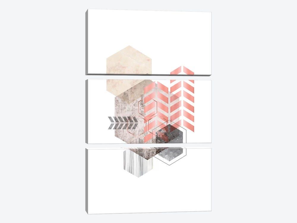 Hexagonal Geo II by Urban Epiphany 3-piece Canvas Print