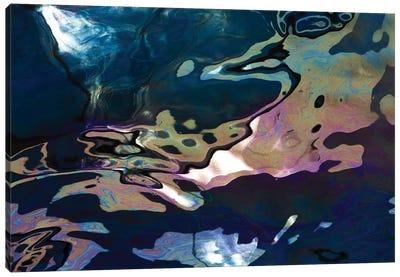Diesel Oil Spill From Boats In Harbor, Denmark Canvas Art Print
