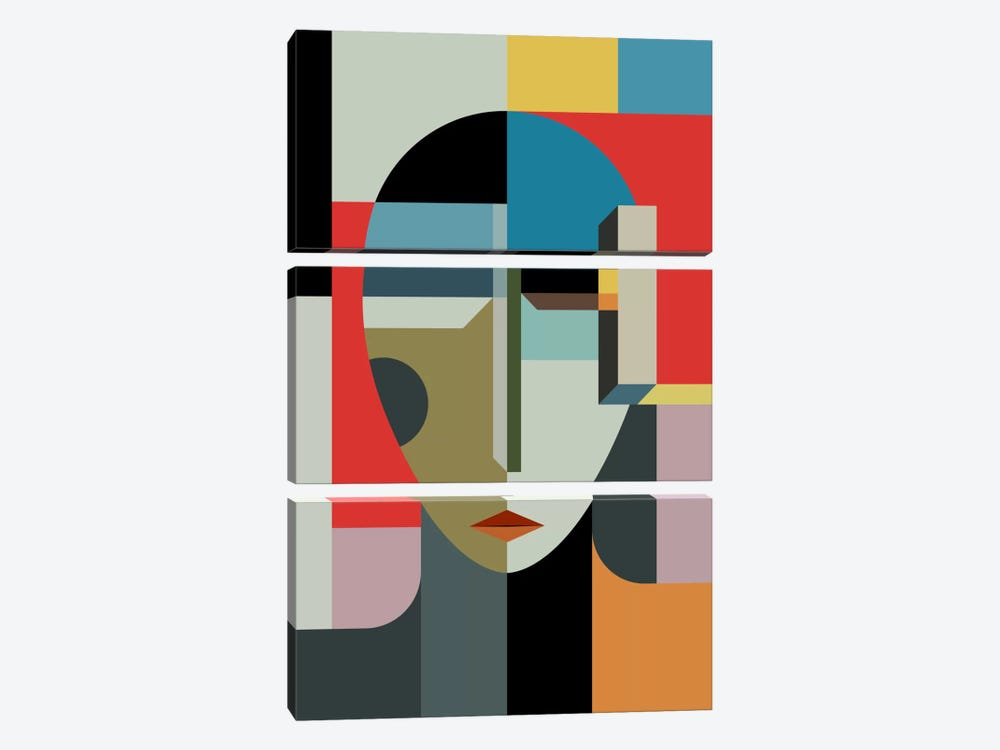 Woman Of When by The Usual Designers 3-piece Art Print