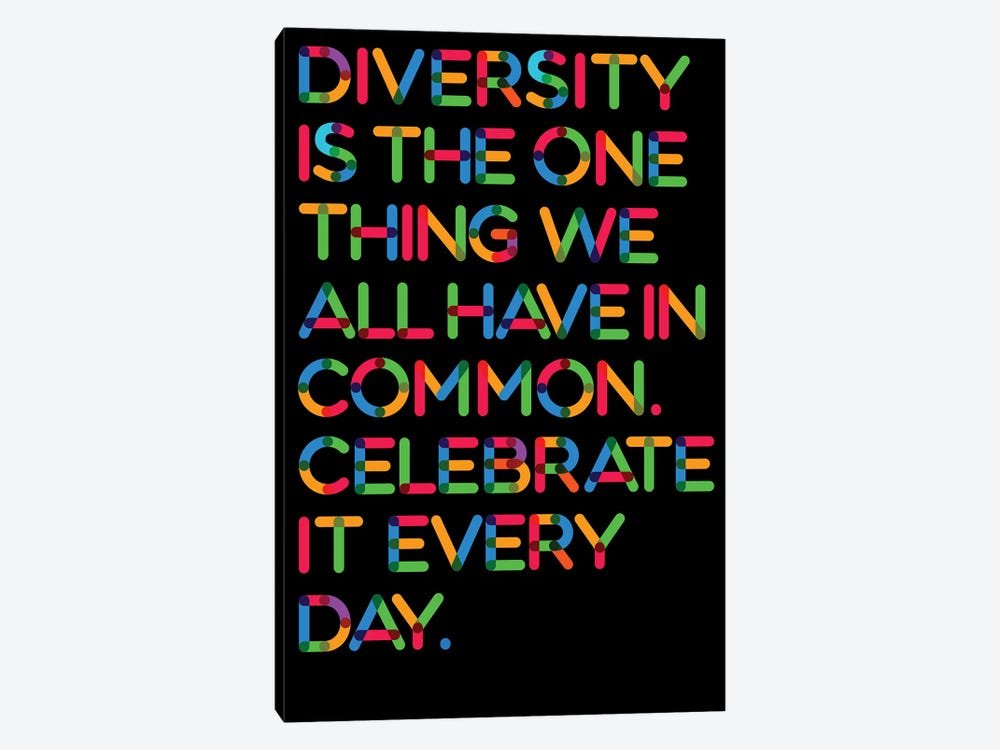 Diversity (Black Background) by The Usual Designers 1-piece Art Print