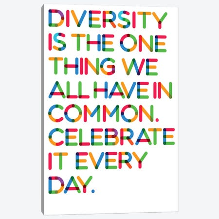 Diversity (White Background) Canvas Print #USL107} by The Usual Designers Canvas Print