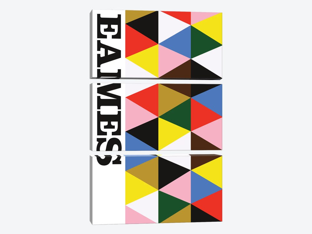 Eames! by The Usual Designers 3-piece Canvas Print