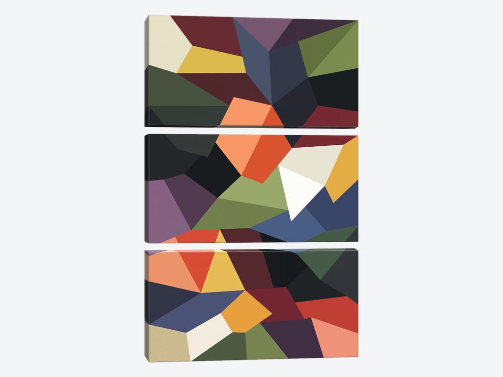 Falling Rocks by The Usual Designers 3-piece Canvas Artwork