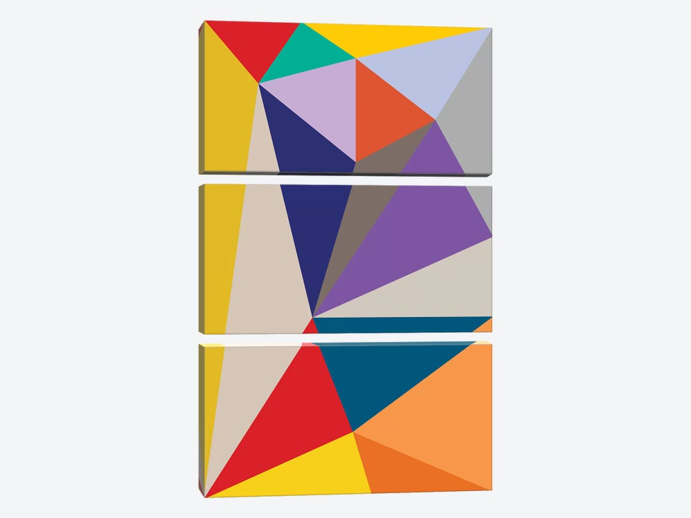 Flatland by The Usual Designers 3-piece Canvas Artwork