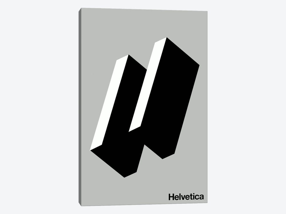 Happy Helvetica by The Usual Designers 1-piece Canvas Wall Art