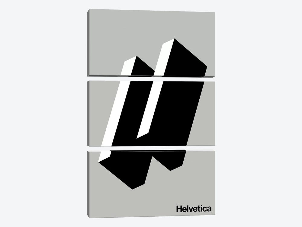 Happy Helvetica 3-piece Canvas Wall Art