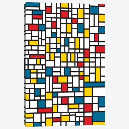 Mondrian Extreme Canvas Print #USL121} by The Usual Designers Canvas Art