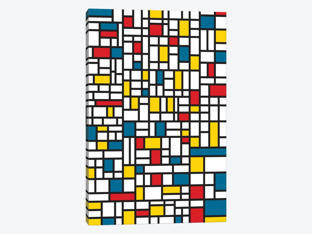 Mondrian Extreme by The Usual Designers 1-piece Canvas Art