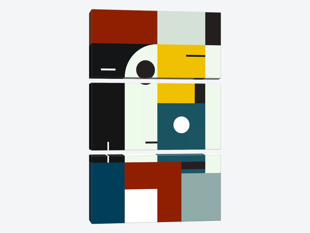 Bauhaus Age by The Usual Designers 3-piece Canvas Artwork