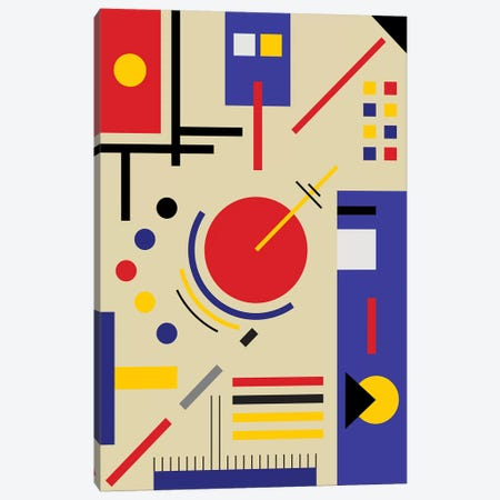 Bauhaus Astronomy Canvas Print #USL131} by The Usual Designers Canvas Print