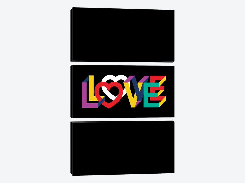 In Love Everything Is Right by The Usual Designers 3-piece Canvas Art