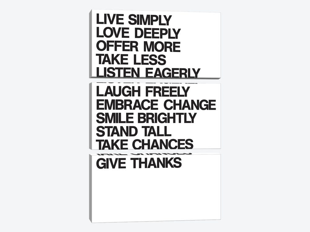 For A Better Life (Black On White) by The Usual Designers 3-piece Art Print