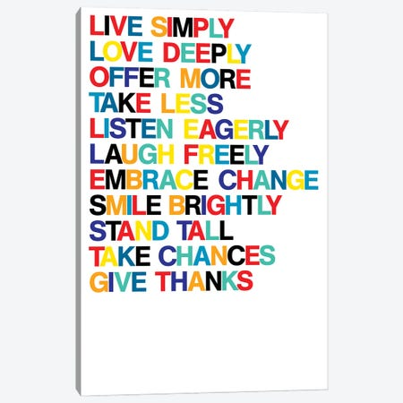 For A Better Life (Colors On White) Canvas Print #USL135} by The Usual Designers Canvas Artwork
