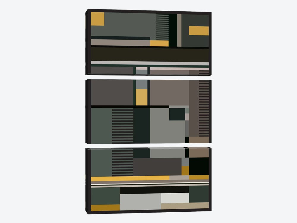 Bauhaus Arte by The Usual Designers 3-piece Canvas Print