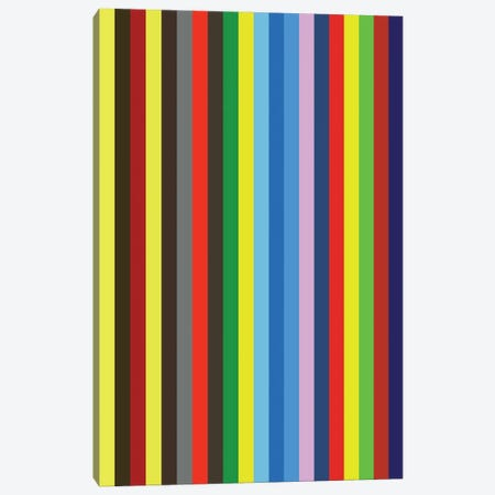 Stripes Canvas Print #USL141} by The Usual Designers Canvas Wall Art