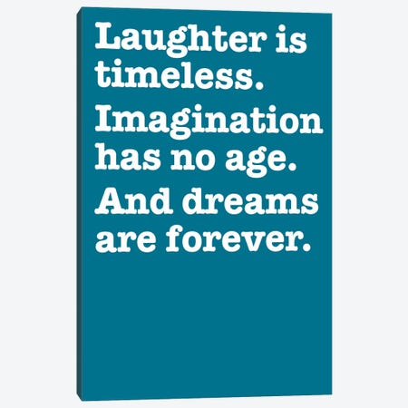 Imagination And Dreams (Blue) Canvas Print #USL145} by The Usual Designers Canvas Art Print