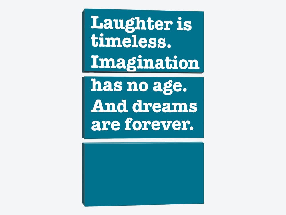 Imagination And Dreams (Blue) by The Usual Designers 3-piece Canvas Artwork