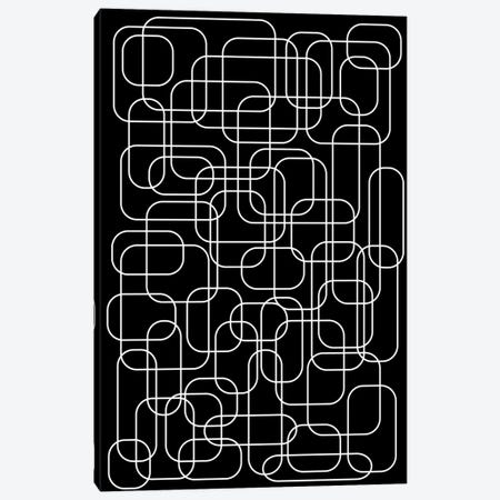 The 70's (Black) Canvas Print #USL147} by The Usual Designers Canvas Art Print