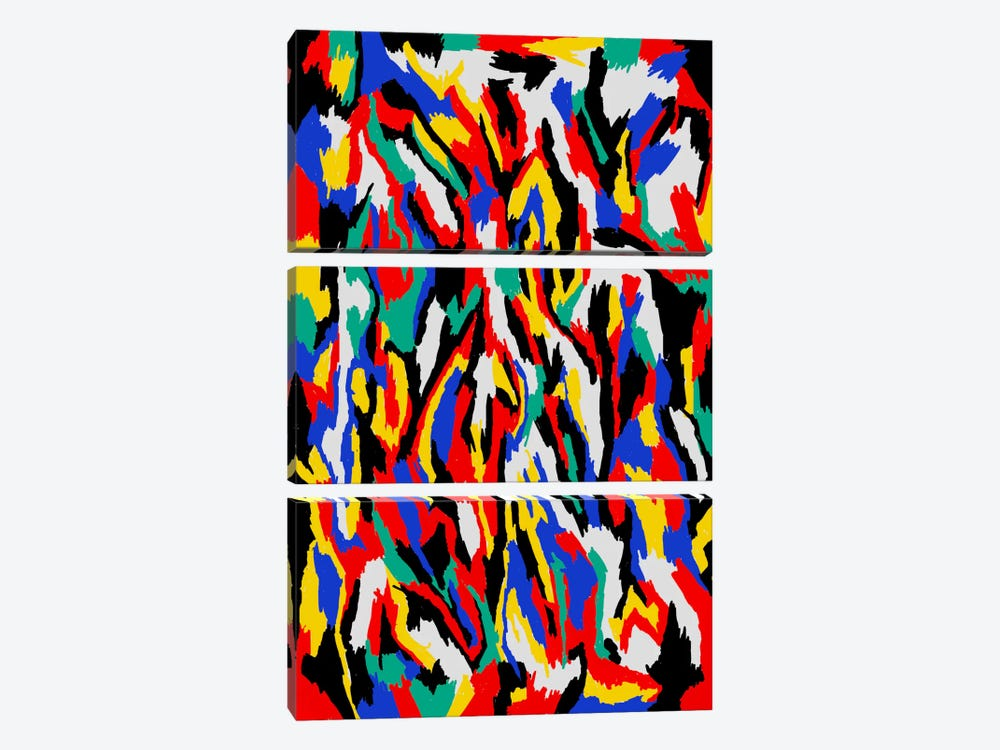 Bauhaus Camouflage by The Usual Designers 3-piece Canvas Art Print