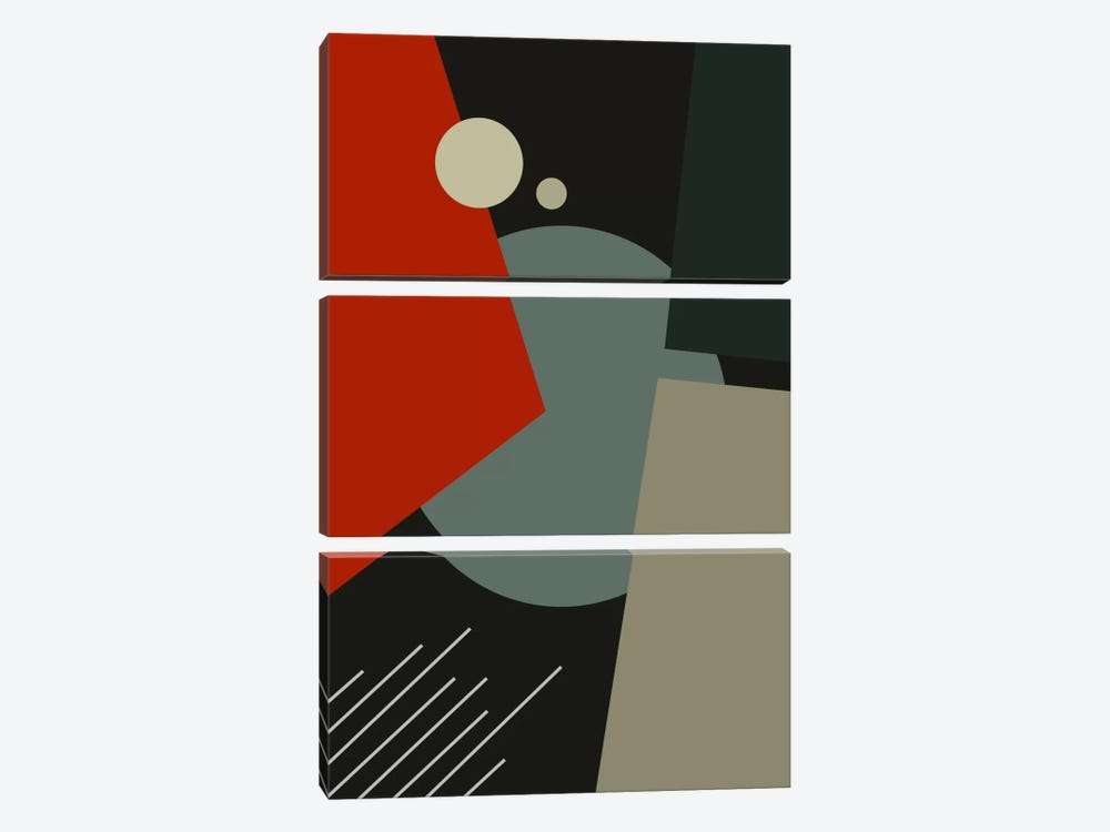 Bauhaus Going To Mars by The Usual Designers 3-piece Canvas Artwork