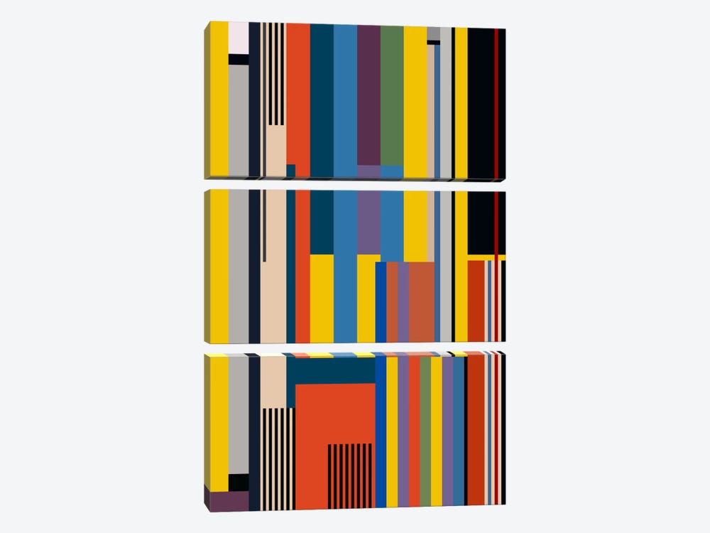 Bauhaus Rising by The Usual Designers 3-piece Canvas Art