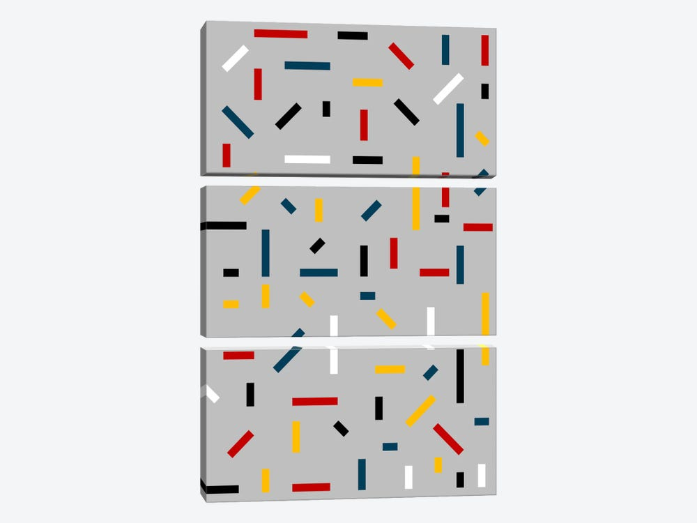 Before Mondrian by The Usual Designers 3-piece Canvas Artwork