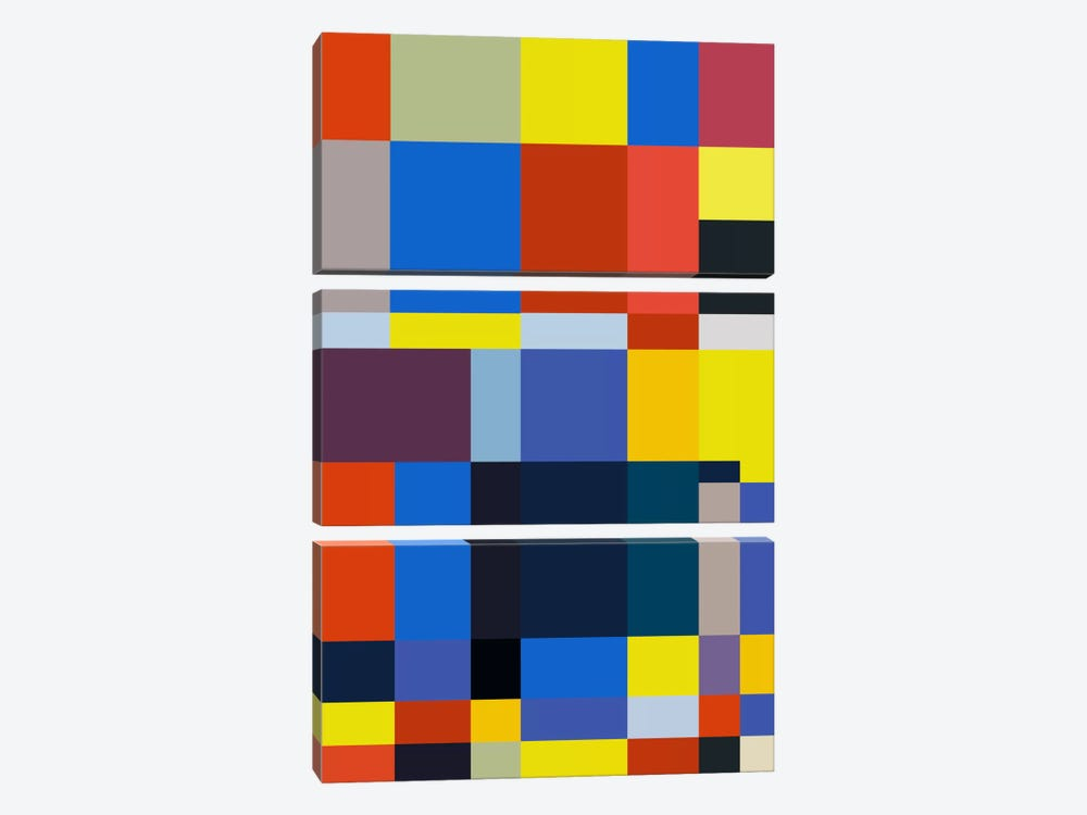 Cubiq by The Usual Designers 3-piece Canvas Wall Art