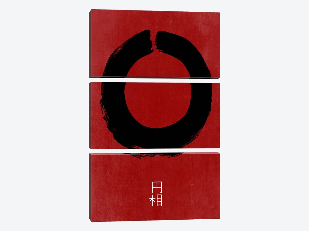 Enso In Japan by The Usual Designers 3-piece Canvas Print