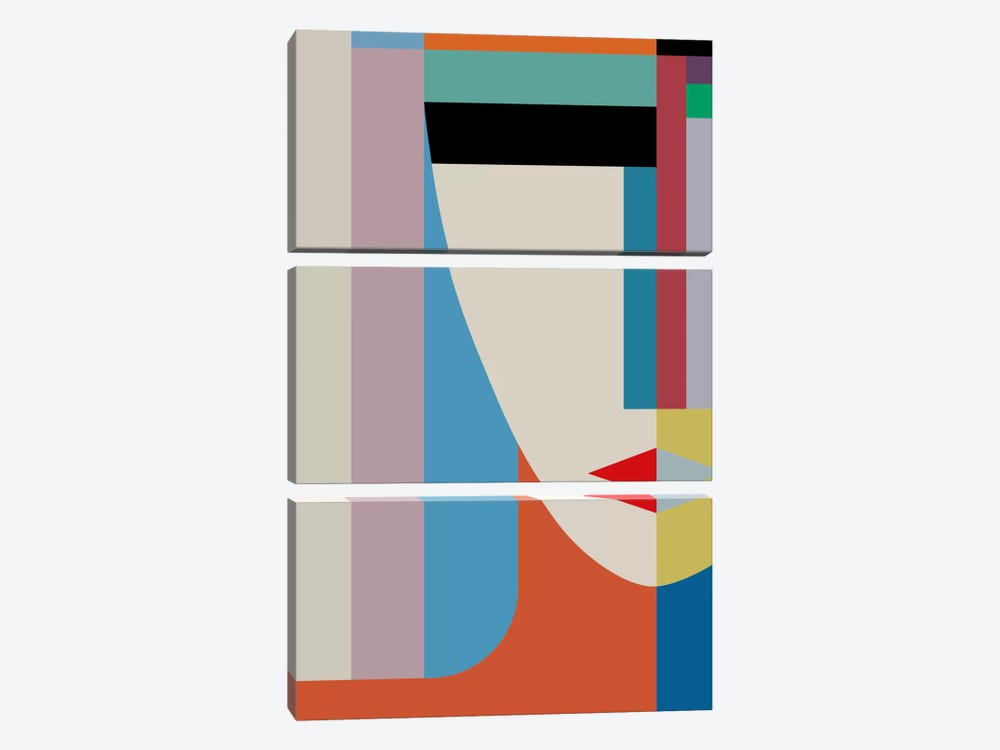 Absolute Face by The Usual Designers 3-piece Canvas Print