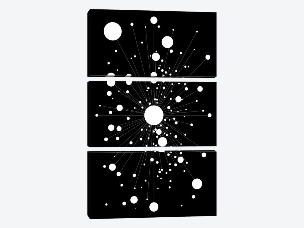 Galactica by The Usual Designers 3-piece Canvas Wall Art