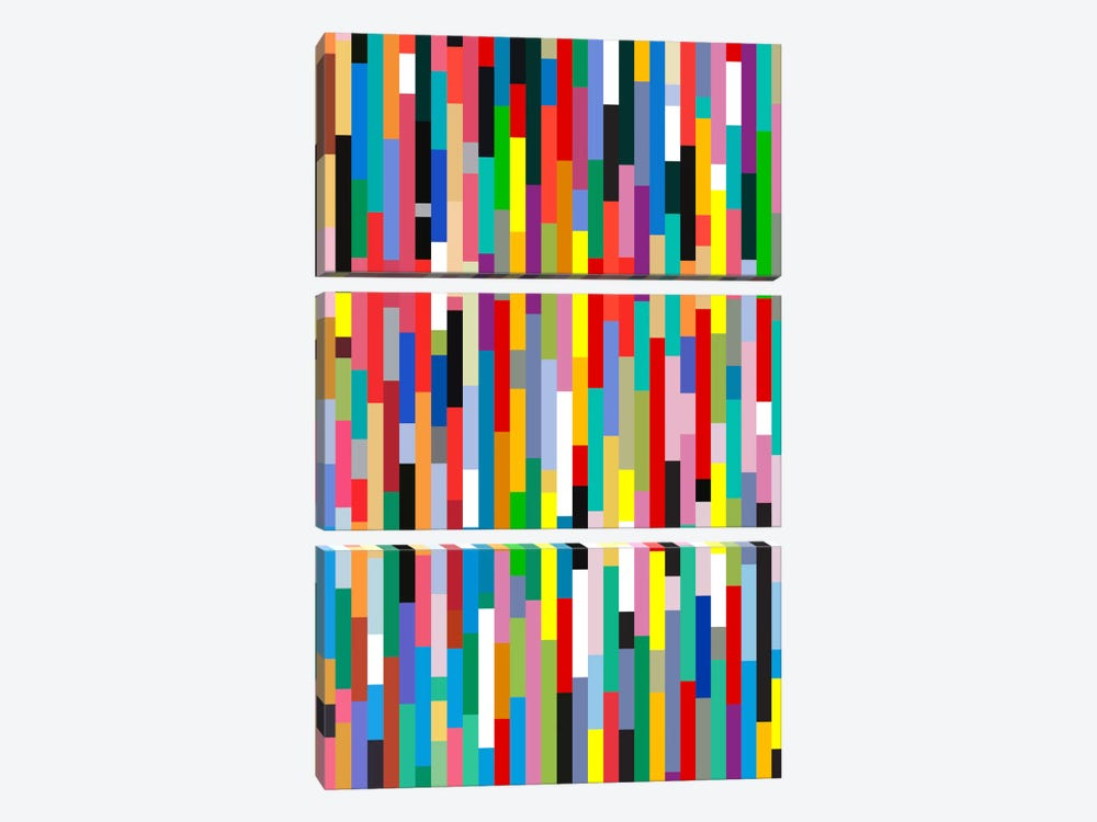 Johann Sebastian Bach by The Usual Designers 3-piece Canvas Artwork